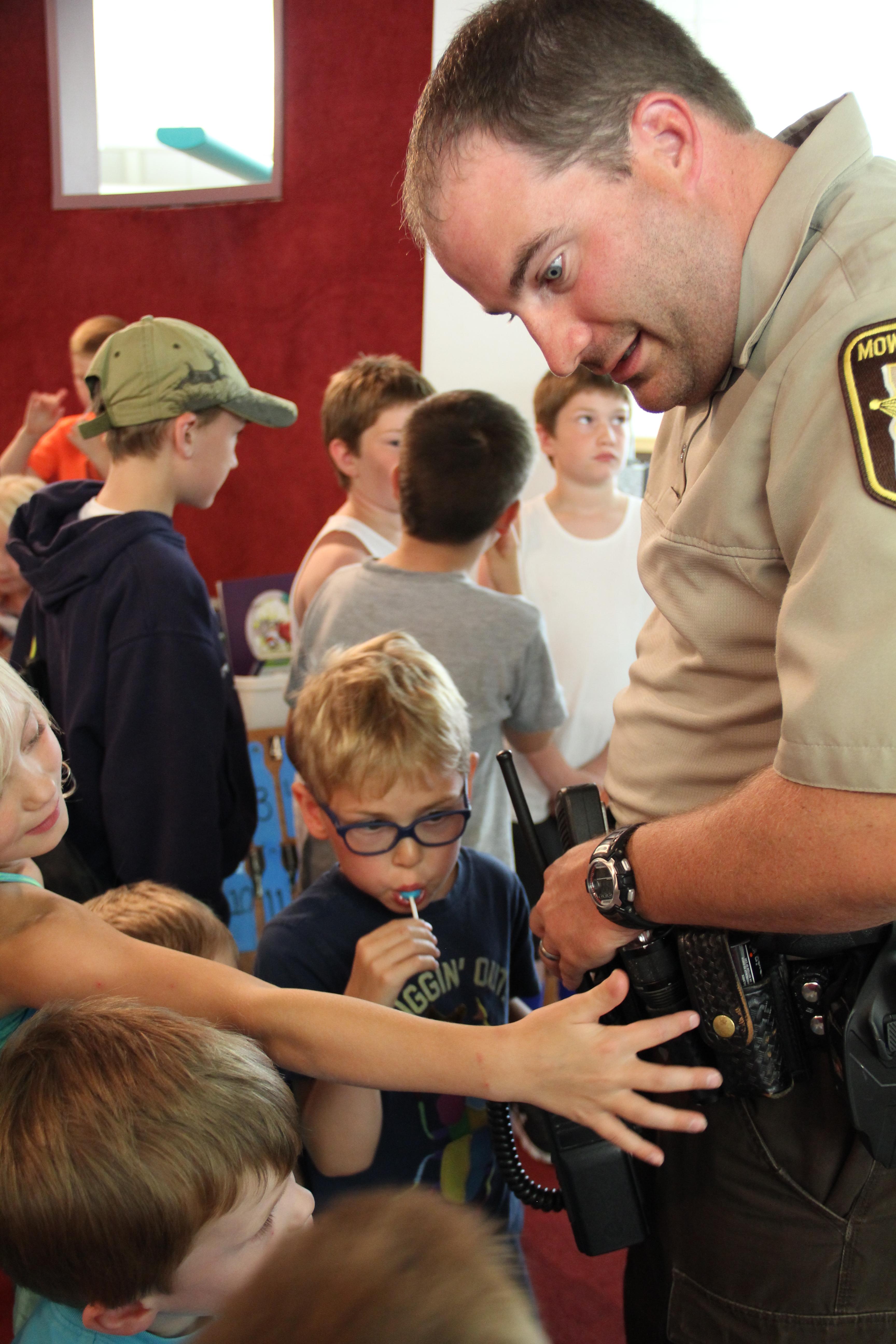 LeRoy Mower County Sheriff's Deputies Jamie Meyer & Ryan Chrz visiting